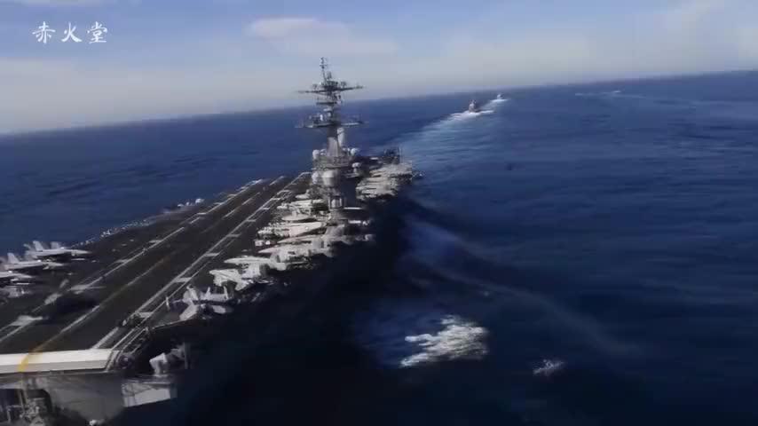美国航母又出事,预警机降落失败砸碎4架战机,甲板成为一片火海