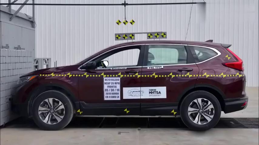 汽车碰撞测试:2019款全新本田CRV有多结实?最新碰撞测试来了