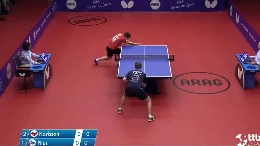 横飞直撞!看德国男乒联赛的对抗简直就是国乒业余选手的比赛