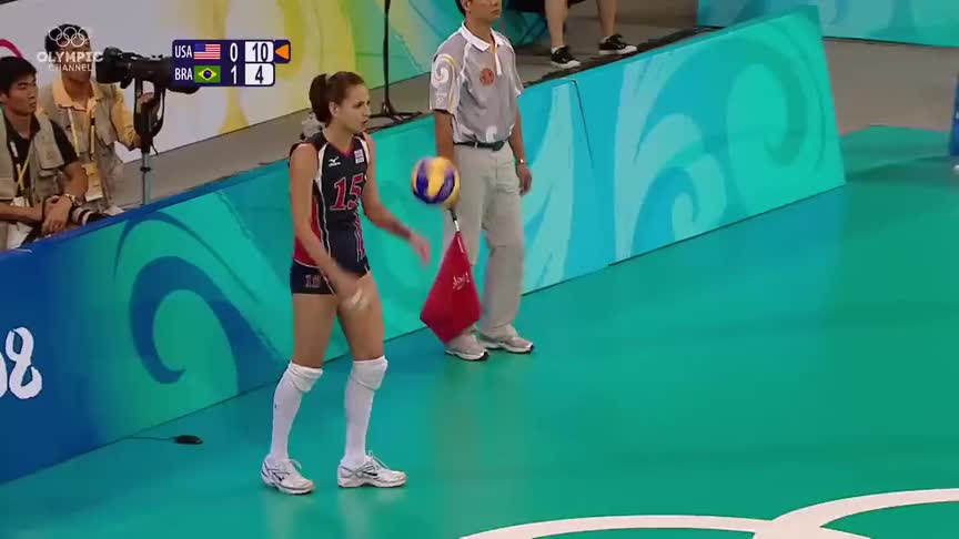 矛与盾的对决,北京奥运女排决赛,美巴两国女排的对攻精彩绝伦