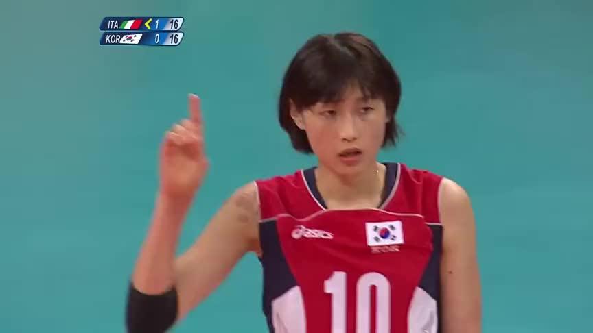 星光闪耀!金软景大爆发,带动韩国女排将意大利女打的人仰马翻