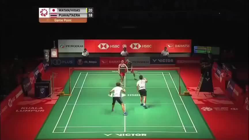 羽毛球:渡边勇大东野有纱2019年捧起马来西亚大师赛冠军