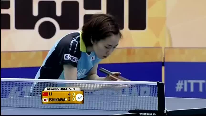 李晓霞左右调动石川佳纯,最后的一板强攻彰显乒坛女王风范