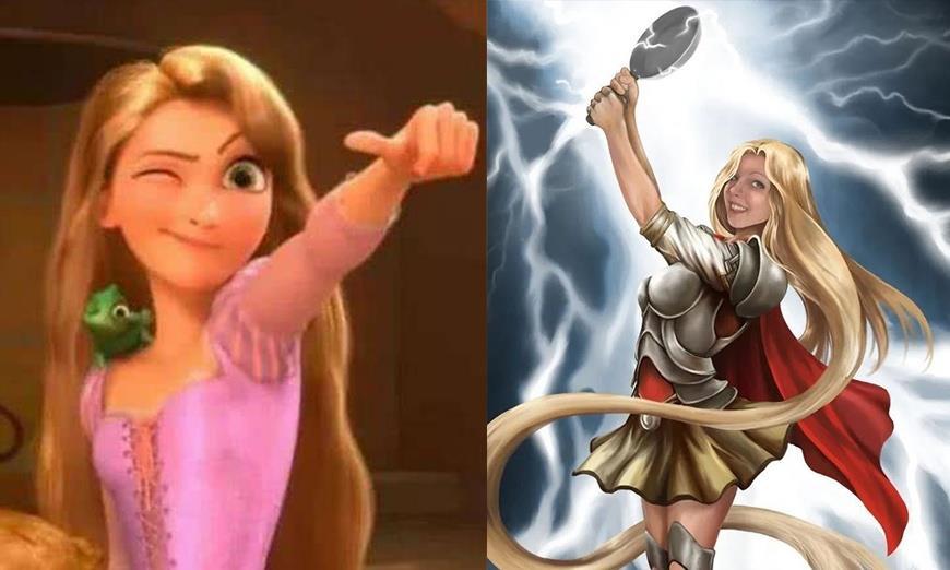 当迪士尼公主变身为超级英雄,乐佩成了雷神,艾莎化身绯红女巫!