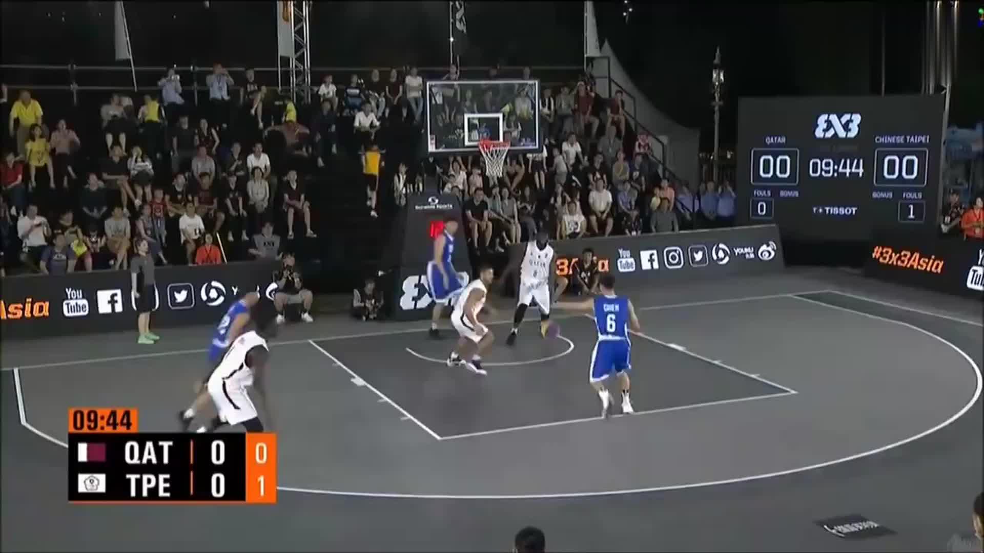 三对三篮球赛,三个人都是射手,真是无敌了