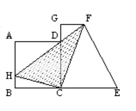 此题求阴影部分的面积,用常规方法比较复杂,换个思路则很简单