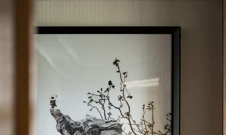 实木家装新中式玄关,第一眼就充满了诗情画意!