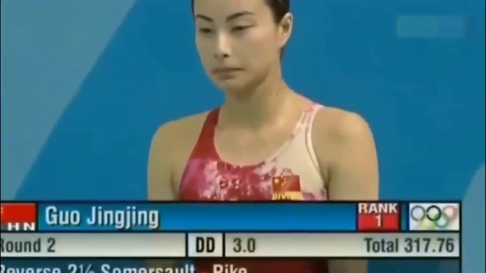 跳水皇后郭晶晶奥运会最完美的一跳,一气呵成,美得如出水芙蓉!