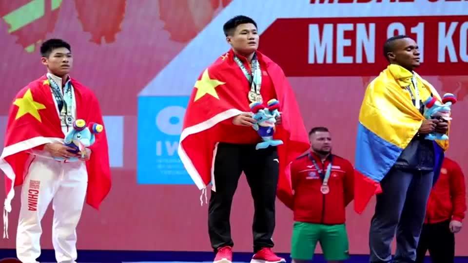 真是拼了!举重世锦赛吕小军带伤上阵 揽三金破两世界纪录