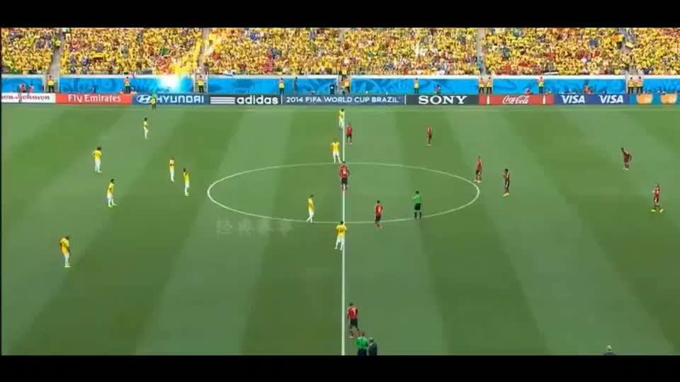 重温世界杯淘汰赛,巴西哥伦比亚巅峰对决,路易斯踢出神仙任意球