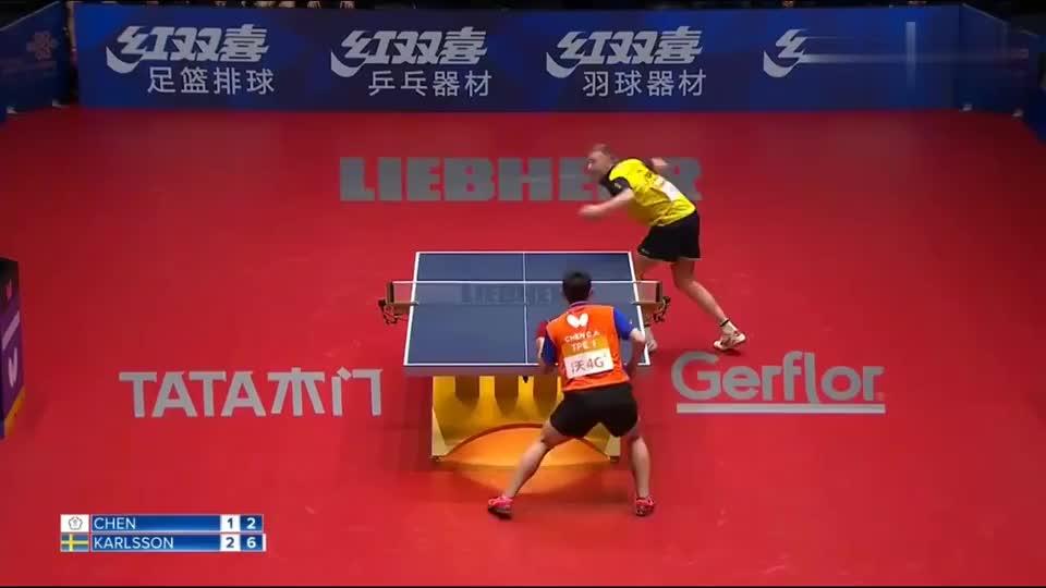 把乒乓球打成羽毛球了,陈建安这一拍子,可以和许昕叫板了