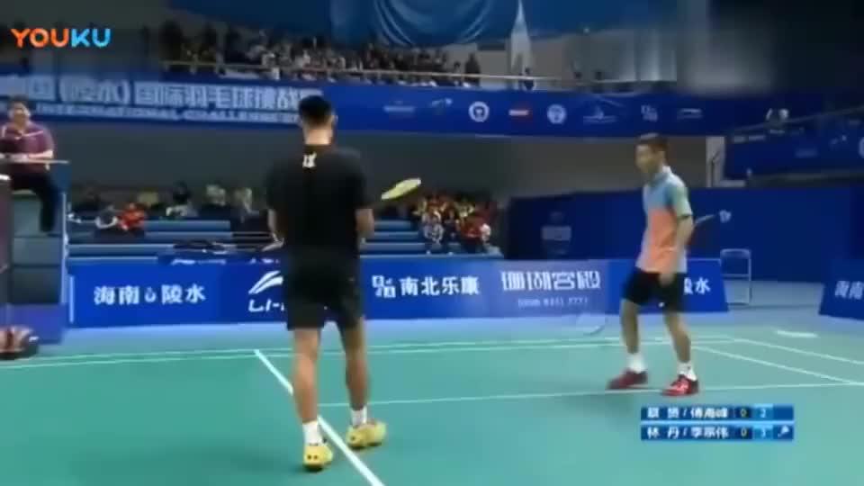 林丹和李宗伟搭档男双,看看真正的神球技,反射条件太厉害了!