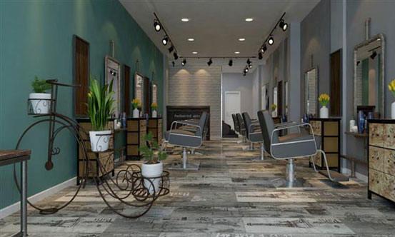 上海徐汇区30平米理发店装修效果图