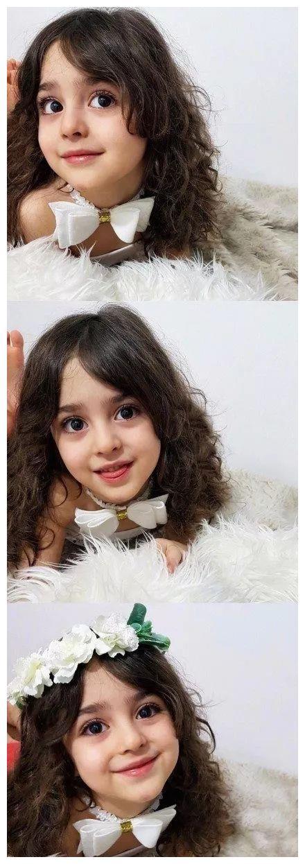 """伊朗8岁小女孩被称为""""全球最美""""!因太美,父亲辞职做贴身保镖"""