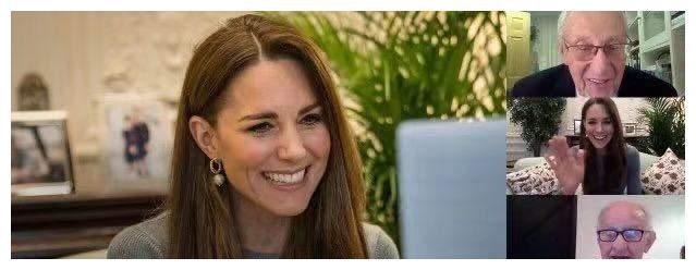 凯特王妃视频连线幸存者!裹紧身毛衣不怕手臂粗,笑容满面太甜了