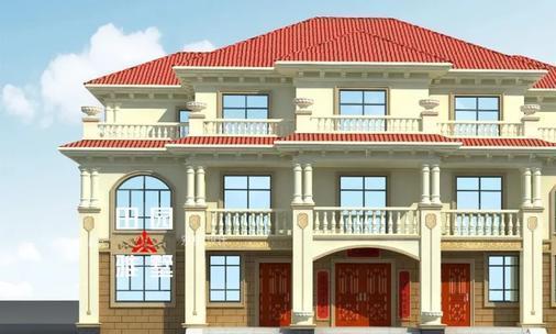 20m×13m三层带堂屋的欧式双拼别墅