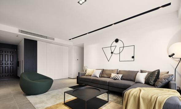 三居室的现代风装修大概需要多少钱?这套105平米的装修案例值