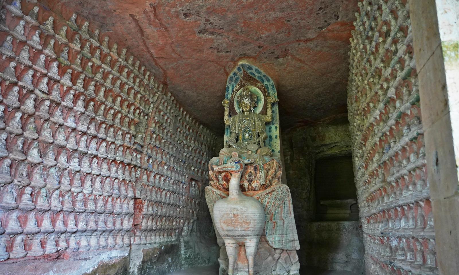 和莫高窟同为世界文化遗产,重庆开凿唐末的石窟,看点丰富游客少