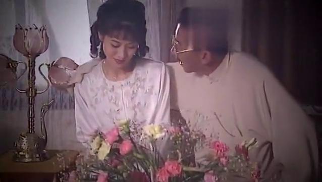 老头子与年轻小女子相会,真是可惜了,小女子的美貌啊