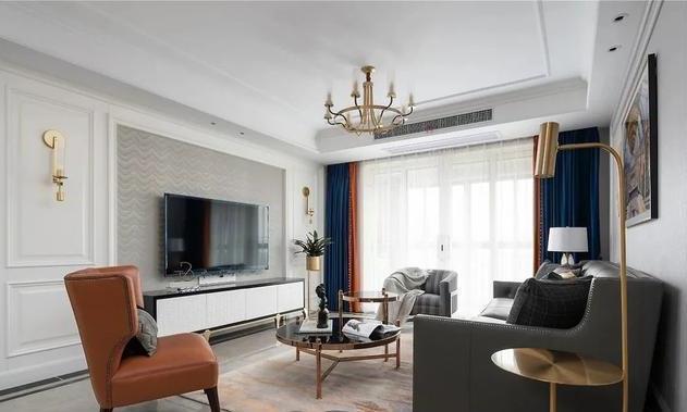 西安二手房翻新装修改造:经典黑白+时尚跳色 玩出高级感