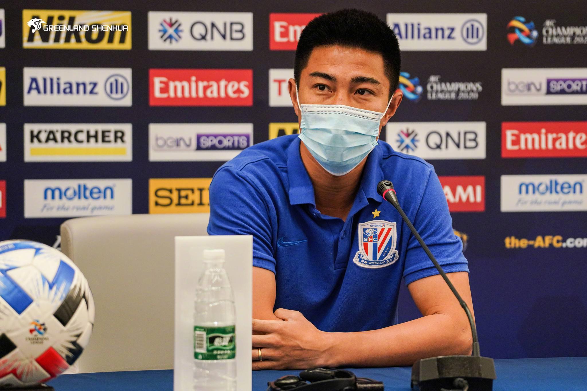 孙世林与崔康熙参加亚冠小组第四轮申花与东京FC的新闻发布会