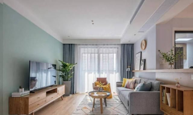 98㎡清新自然北欧风格家居装修设计,雅致温馨!