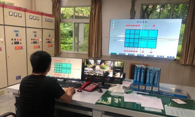大竹县盛洁供排水公司东柳水厂进行PLC系统检验工作