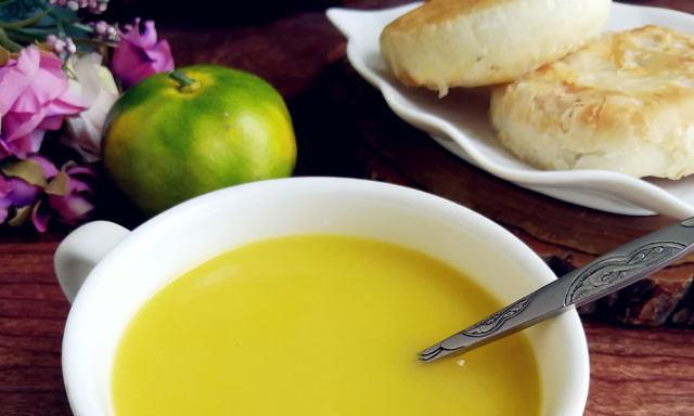 糯米南瓜浓汤,清香好喝,做法简单