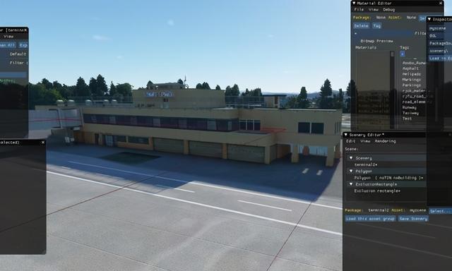 《微软飞行模拟》新机场插件包截图 日本沙丘柯南机场