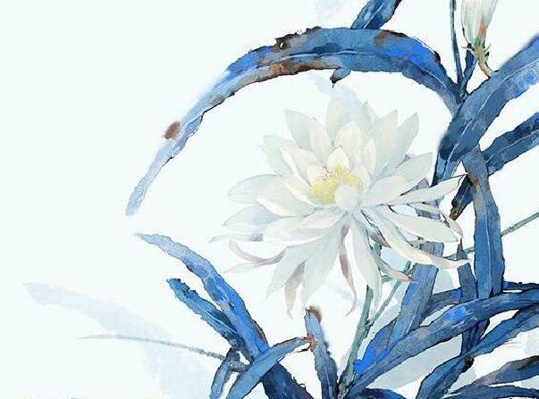 古风:一组中国风动漫场景花卉绘画插画分享