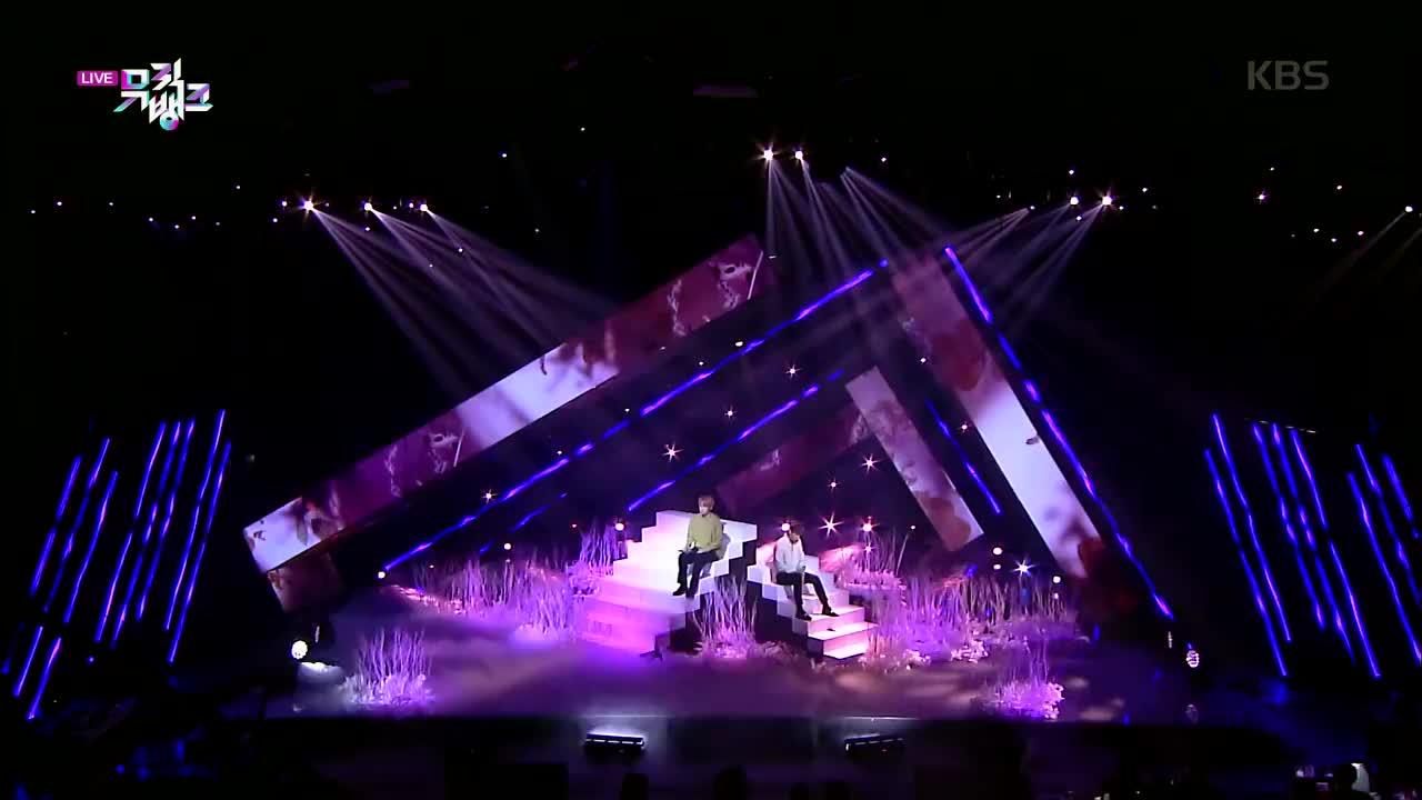 sf9金仁诚李在允200403音乐银行的特别舞台