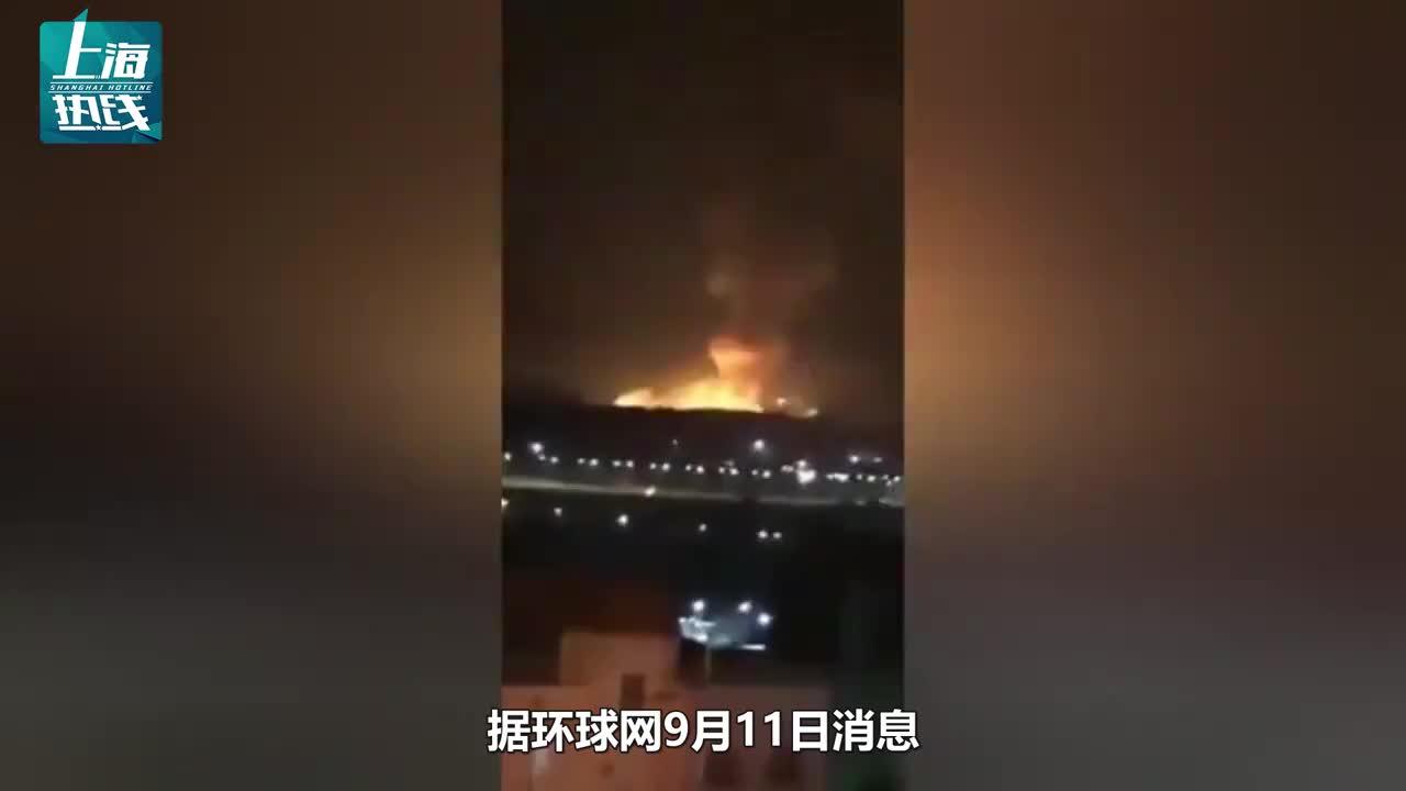 黎巴嫩爆炸刚过,约旦首都附近军火库爆炸,现场火光冲天亮如白昼