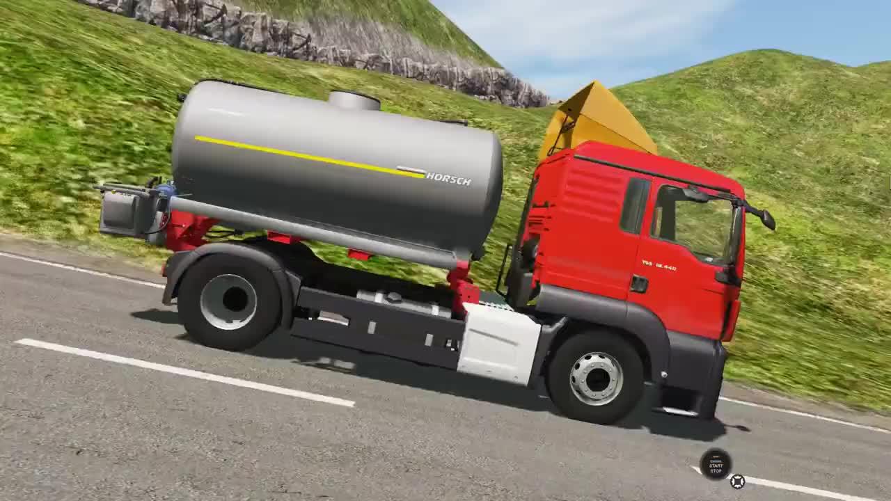 挖掘机视频1445大卡车运输挖土机挖机工作工程车