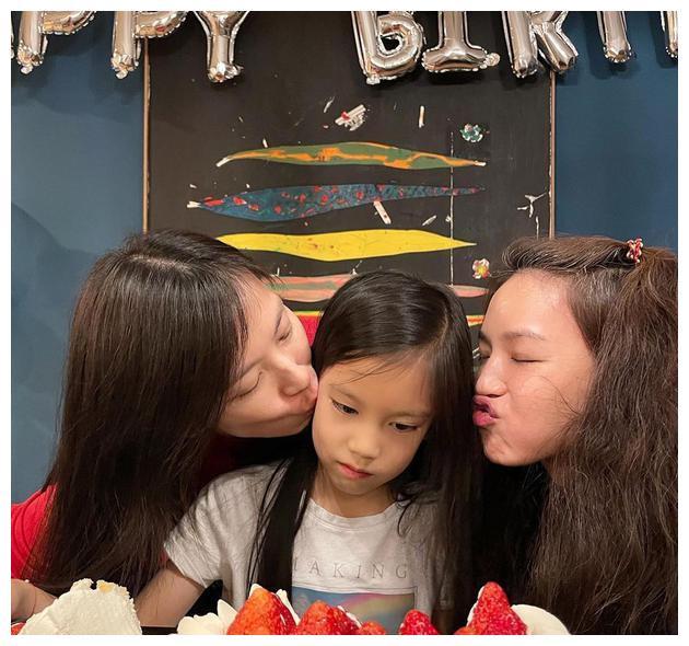 冯德伦隔空送祝福,舒淇为干女儿庆生,林熙蕾的女儿好幸福