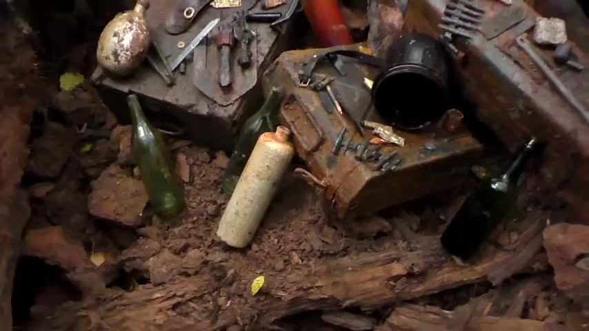 二战战场挖出各种各样的武器弹药,看看你认识几种?