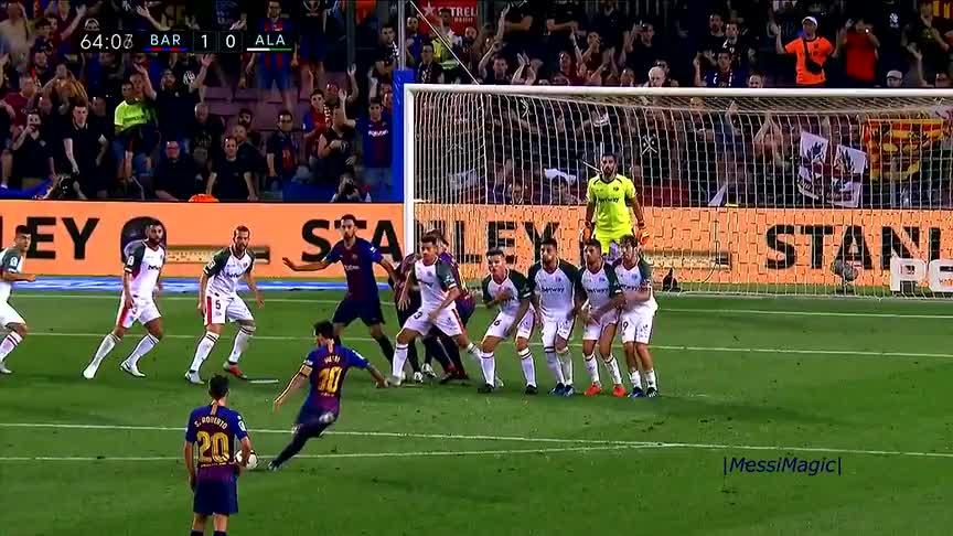 神来之脚!无与伦比的梅西竟在一个赛季打进30粒疯狂的进球