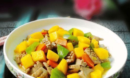 芒果与腰花完美结合,不仅没了猪腥味,还带来了甜美的味道