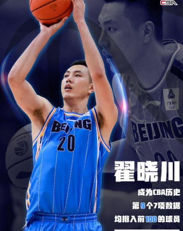 北京首钢进季后赛,翟晓川成历史第9人,现役本土唯一超易建联!