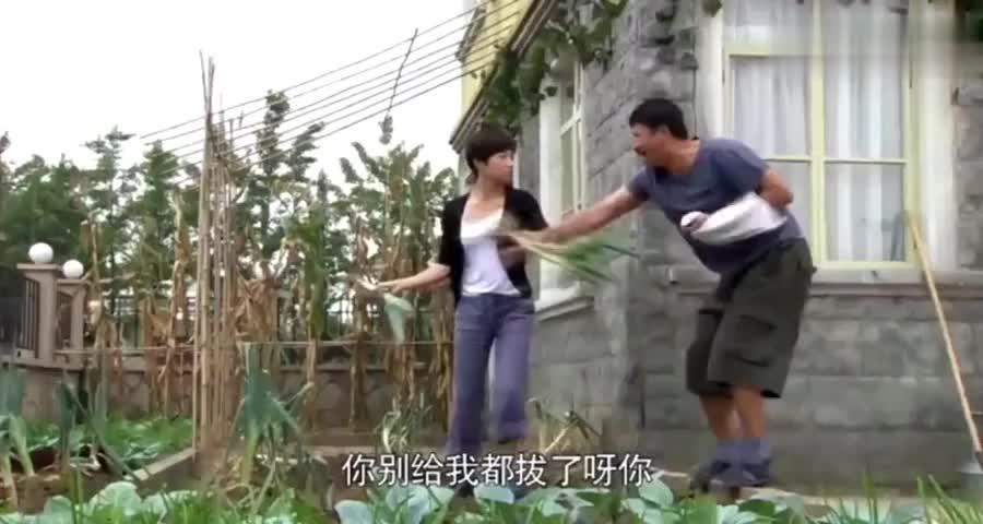 美女嫌弃农村大哥,把他种的菜拔个一干二净,不料竟闯了大祸