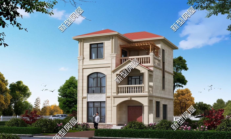 宅基地开间10米、进深9米,共三层要大露台,自建房如何设计?
