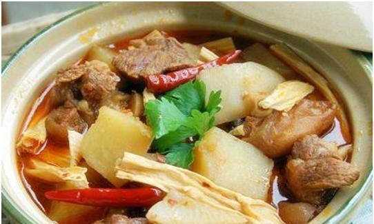 羊肉预热锅,香辣粉丝蒸虾,八宝鸭,南乳花生猪脚煲的做法