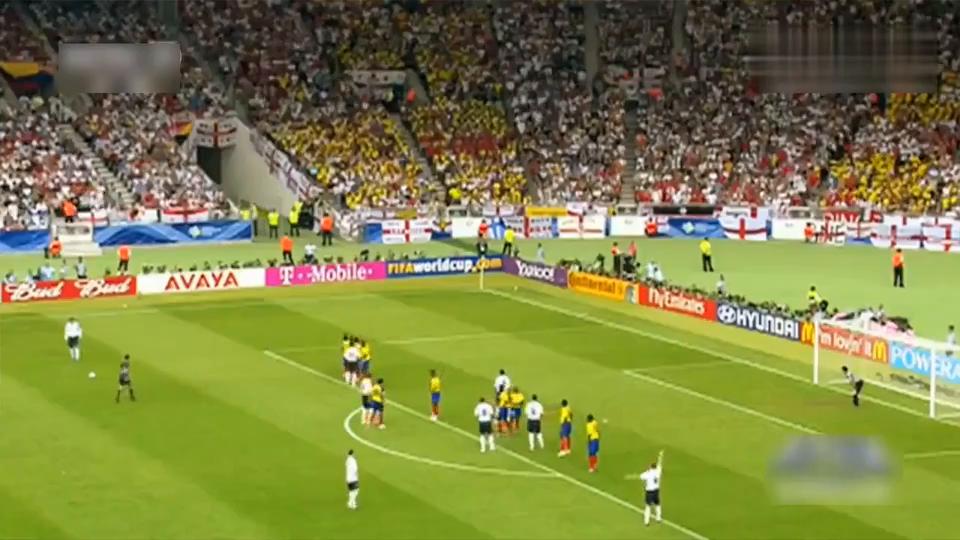 贝克汉姆世界杯最后一球!都让看台上的贝嫂激动了!