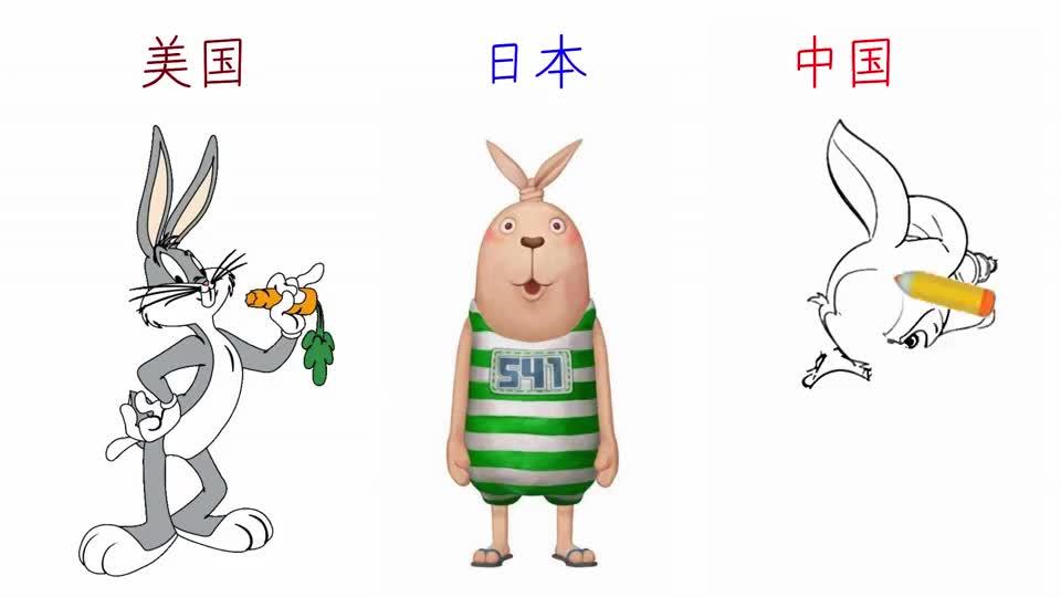 每个国家的兔子有什么不同?漫画展示这三国的兔子,中国赢定了!