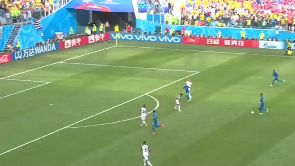 2018世界杯巴西vs哥斯达黎加,这场胜的太不容易,内马尔掩面哭泣