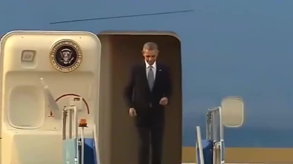 奥巴马出行,黑衣保镖层层保护,总统安保不可以出一点差错!