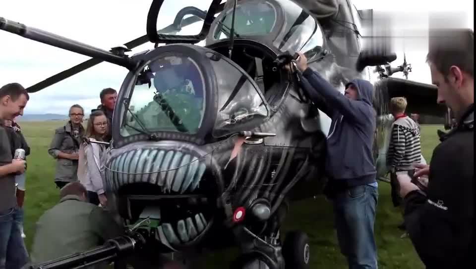 """""""异形""""凶猛!这架捷克陆航的米24武装直升机太吸眼球了"""