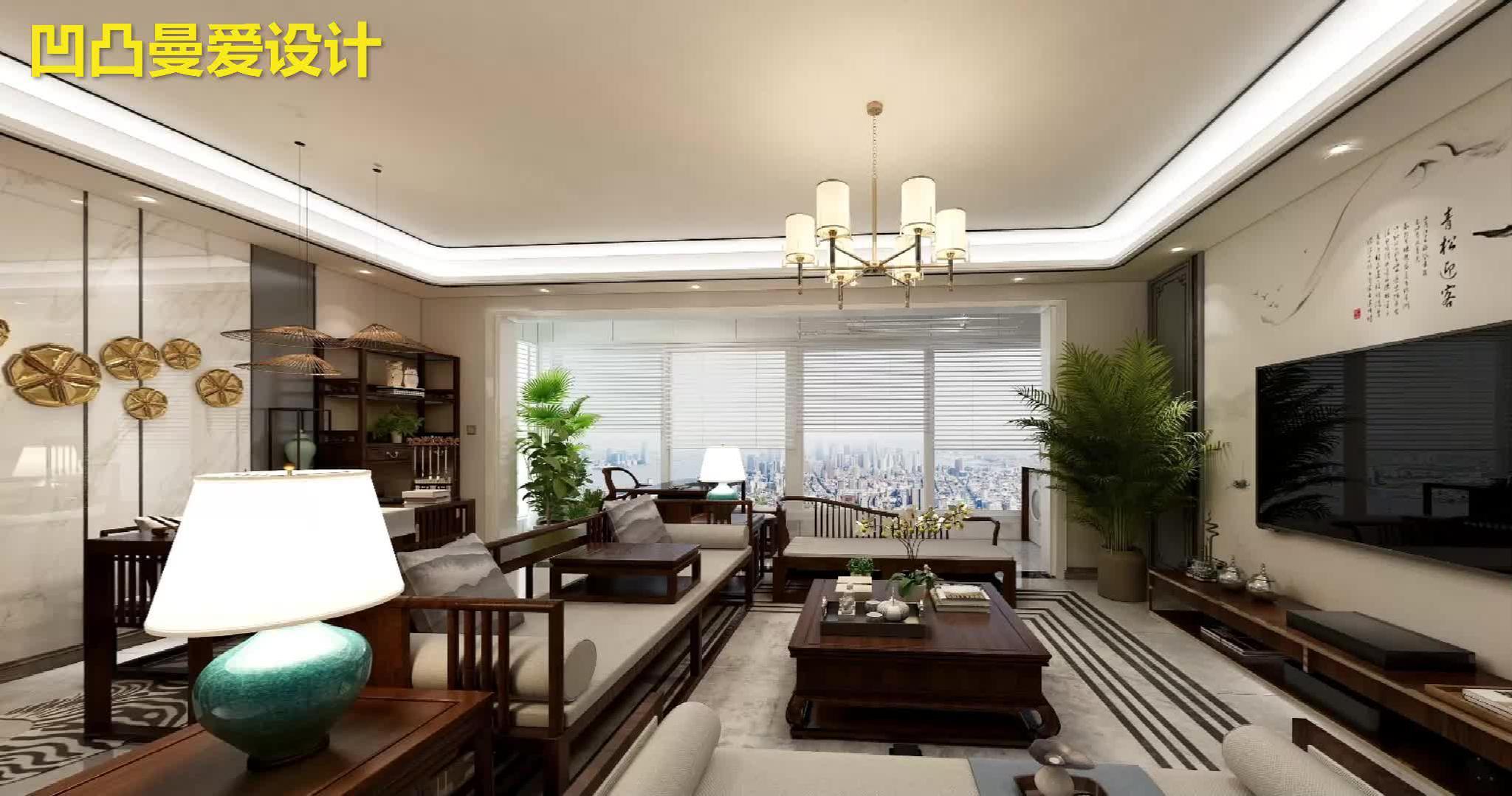简约中透着轻奢质感,融合中式元素的家