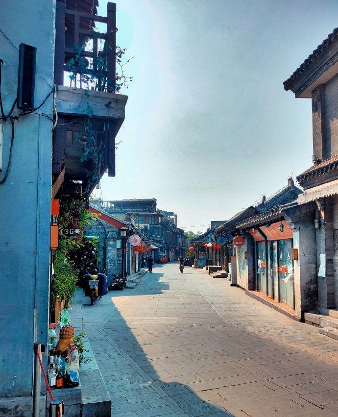 四月某个下午的北京什刹海