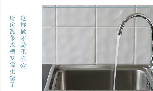 哈尔滨维斯科技解读:厨房洗菜水槽发霉生锈了,这样做才是重点