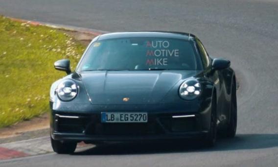 保时捷911 GTS路试谍照曝光 动力配置或提升